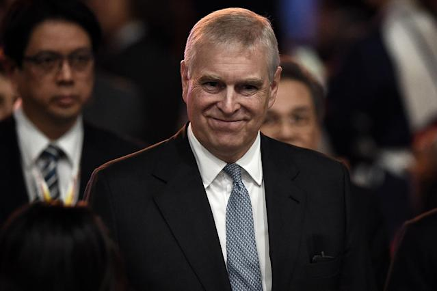 Prince Andrew has been pulled from royal duties over his ties to Jeffrey Epstein. (Photo: LILLIAN SUWANRUMPHA/AFP via Getty Images)