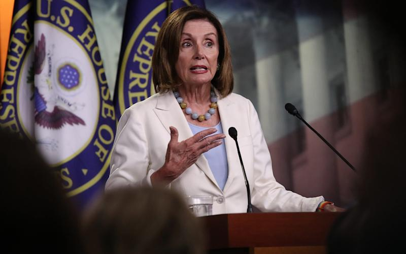Nancy Pelosi leads the Democrats in the House of Representatives, where the party has a majority - Getty Images North America