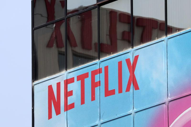 FILE PHOTO - The Netflix logo is seen on their office in Hollywood, Los Angeles