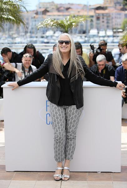 President of the jury Jane Campion during a photo call for members of the jury at the 67th international film festival, Cannes, southern France, Wednesday, May 14, 2014. (AP Photo/Alastair Grant)