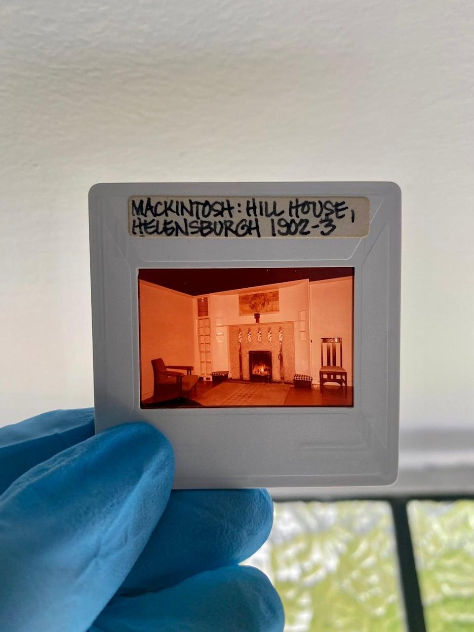 The slides show the Hill House in the 1970s (Taylah Egbers/NTS/PA)