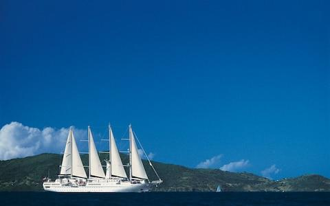 Wind Star, Windstar Cruises' signature ship - Credit: Windstar Cruises
