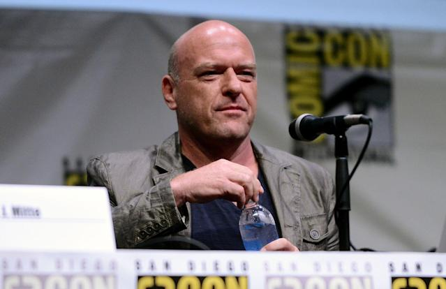 "Dean Norris speaks onstage at the ""Breaking Bad"" panel during Comic-Con International 2013 at San Diego Convention Center on July 21, 2013 in San Diego, California."
