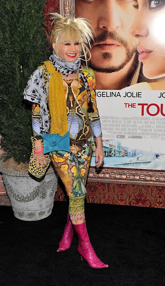 "<a href=""http://movies.yahoo.com/movie/contributor/1804572661"">Betsey Johnson</a> attends the New York premiere of <a href=""http://movies.yahoo.com/movie/1810149482/info"">The Tourist</a> on December 6, 2010."