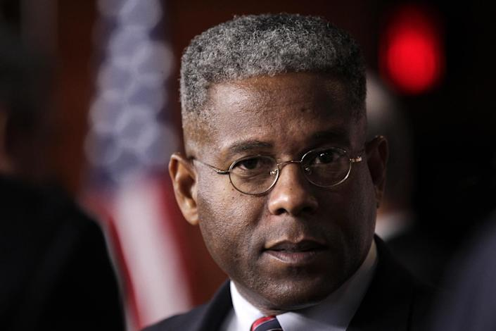 FILE - In this July 30, 2011 file photo, Rep. Allen West, R-Fla. talks on Capitol Hill in Washington. Conspiracy theorists came out in force Friday, Oct. 5, 2012, after the government reported a sudden drop in the U.S. unemployment rate one month before Election Day. West agreed with former GE CEO Jack Welch's skepticism of the Labor Department's announcement that the unemployment rate had fallen to 7.8 percent in September from 8.1 percent the month before. (AP Photo/J. Scott Applewhite, File)