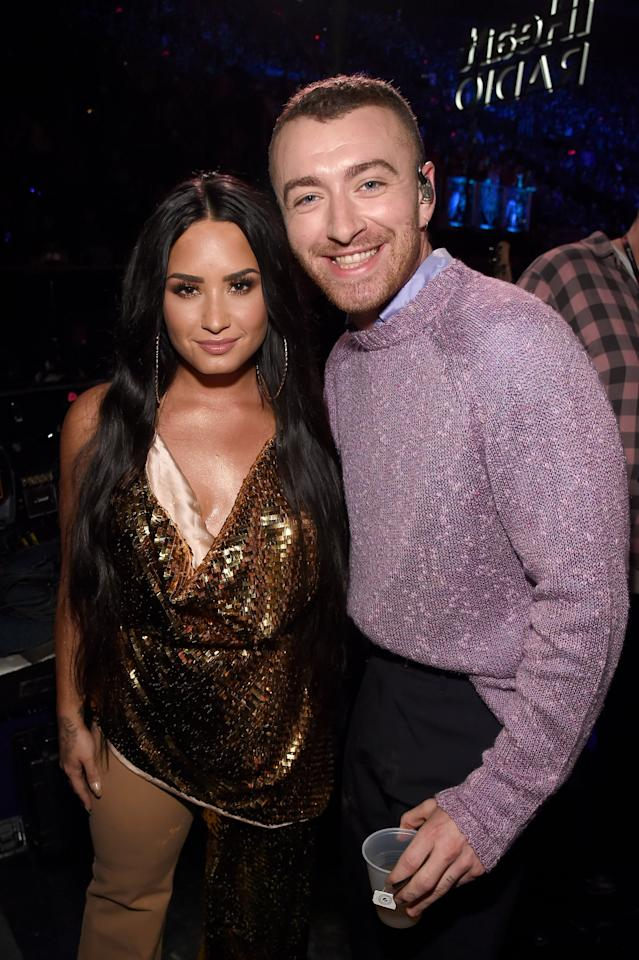 """<p>Sam and Demi's friendship grew out of admiration for each other. They've both <a href=""""https://www.billboard.com/articles/columns/pop/8038208/sam-smith-loves-demi-lovato-too-good-at-goodbyes-cover"""" target=""""_blank"""" class=""""ga-track"""" data-ga-category=""""Related"""" data-ga-label=""""https://www.billboard.com/articles/columns/pop/8038208/sam-smith-loves-demi-lovato-too-good-at-goodbyes-cover"""" data-ga-action=""""In-Line Links"""">publicly gushed about the other</a> for years, and Demi even said she was <a href=""""https://www.billboard.com/articles/columns/pop/9356689/sam-smith-demi-lovato-tease-upcoming-song-collaboration"""" target=""""_blank"""" class=""""ga-track"""" data-ga-category=""""Related"""" data-ga-label=""""https://www.billboard.com/articles/columns/pop/9356689/sam-smith-demi-lovato-tease-upcoming-song-collaboration"""" data-ga-action=""""In-Line Links"""">dying to collaborate with Sam</a>. She got her wish when the two teamed up for their newest single, """"I'm Ready."""" </p> <p>Sam also opened up about their friendship with Demi, telling <strong>Harper's Bazaar</strong>, """"I am <a href=""""https://www.harpersbazaar.com/celebrity/a32013847/demi-lovato-interview-may-2020/"""" target=""""_blank"""" class=""""ga-track"""" data-ga-category=""""Related"""" data-ga-label=""""https://www.harpersbazaar.com/celebrity/a32013847/demi-lovato-interview-may-2020/"""" data-ga-action=""""In-Line Links"""">enamored by her strength</a> and willingness to tell her story, and also her openness about still not being perfect and still learning in front of everyone.""""</p>"""