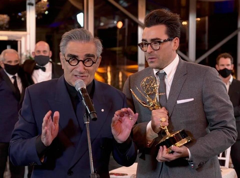 Eugene Levy, Daniel Levy, Emmys 2020, Emmy Awards, Jaw-Droppers