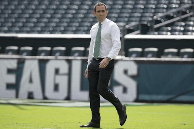 Eagles general manager Howie Roseman deserves a ton of credit for signing Nick Foles in March. (AP)
