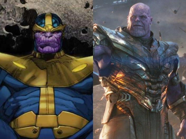 thanos in the comics and the mcu