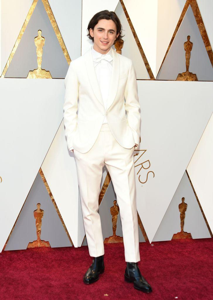 The actor wore a Berluti tuxedo to the 2018 Academy Awards [Photo: Getty]