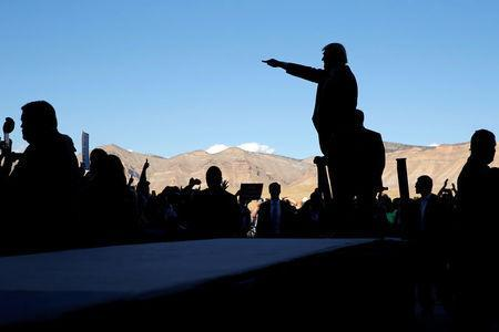 Republican presidential nominee Donald Trump holds a campaign rally in Grand Junction, Colorado, U.S. October 18, 2016. REUTERS/Jonathan Ernst
