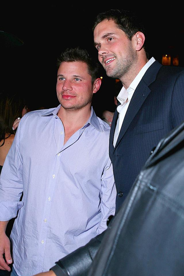 "Nick Lachey and Matt Leinart hang out at the Maxim party. The two have been good friends since shooting the cover of the ""Sports Illustrated on Campus"" issue in 2005. Alexandra Wyman/<a href=""http://www.wireimage.com"" target=""new"">WireImage.com</a> - February 1, 2008"
