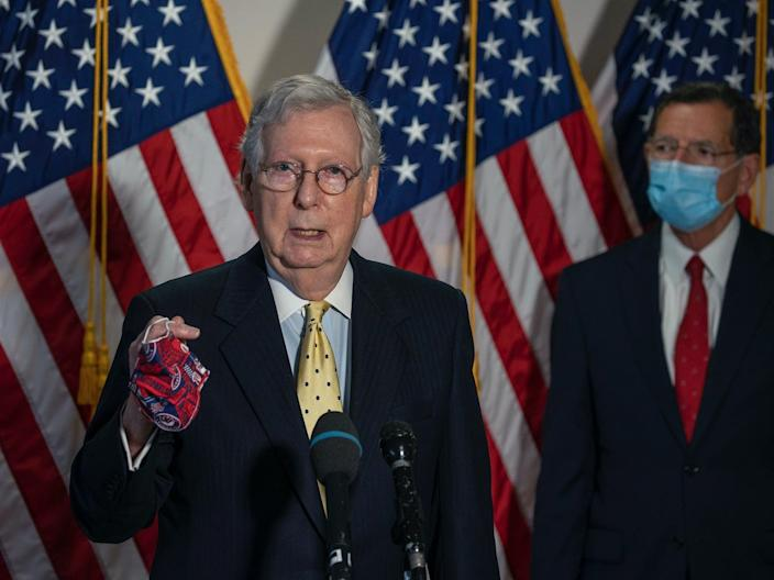Republicans leaders say they'll soon unveil details for the next coronavirus stimulus.