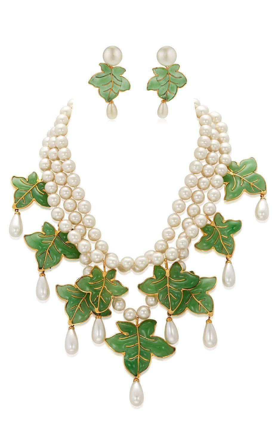 <p>Anticipated to be one of the most exciting jewelry selections in the auction, this set is estimated to be worth $4,000 to $6,000.</p>