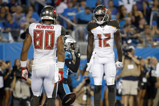 Buccaneers tight end O.J. Howard has been mysteriously absent through two games this season. (AP Photo/Brian Blanco)