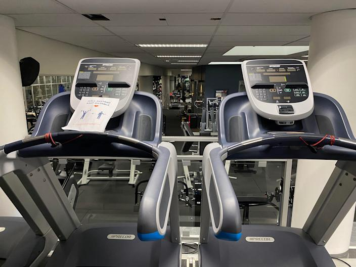 This Swedish gym has closed every other cardio machine so gym goers can keep their distancing while exercising.
