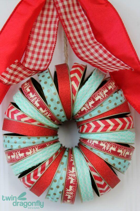 """<p>Not only does this festive holiday project allow you to use those Mason jar lids you have lying around, it also utilizes washi tape, a favorite material of crafters everywhere.</p><p><strong>Get the tutorial at <a href=""""https://homemadeheather.com/holiday-mason-jar-lid-wreath/"""" rel=""""nofollow noopener"""" target=""""_blank"""" data-ylk=""""slk:Homemade Heather"""" class=""""link rapid-noclick-resp"""">Homemade Heather</a>.</strong></p><p><a class=""""link rapid-noclick-resp"""" href=""""https://www.amazon.com/Rolls-Christmas-Masking-Scrapbooking-Crafts/dp/B07YHL7214/ref=asc_df_B07YHL7214/?tag=syn-yahoo-20&ascsubtag=%5Bartid%7C10050.g.2132%5Bsrc%7Cyahoo-us"""" rel=""""nofollow noopener"""" target=""""_blank"""" data-ylk=""""slk:SHOP WASHI TAPE"""">SHOP WASHI TAPE</a><br></p>"""