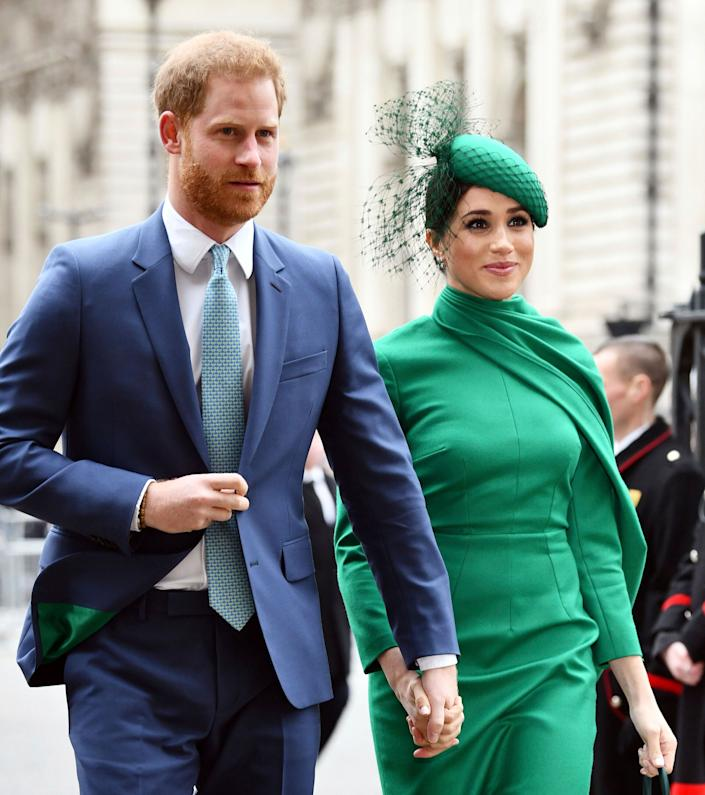 The Duke and Duchess of Sussex attend the Commonwealth Day Service on March 9 at Westminster Abbey. (Photo: zz/KGC-03/STAR MAX/IPx)
