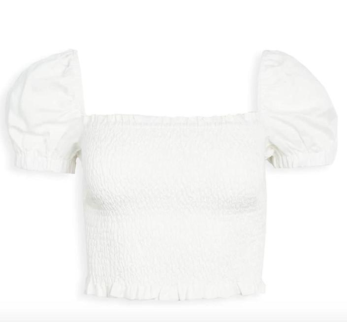 """""""I&rsquo;ve been looking for a <a href=""""https://amzn.to/2Yrwxod"""" rel=""""nofollow noopener"""" target=""""_blank"""" data-ylk=""""slk:white puff sleeve top"""" class=""""link rapid-noclick-resp"""">white puff sleeve top</a> to pair with shorts and skirts this summer, and this might just be the one."""" - <strong>Danielle Gonzalez, Associate Commerce Editor<br><br></strong><a href=""""https://amzn.to/2Yrwxod"""" rel=""""nofollow noopener"""" target=""""_blank"""" data-ylk=""""slk:Find it on sale for $51"""" class=""""link rapid-noclick-resp"""">Find it on sale for $51</a>."""