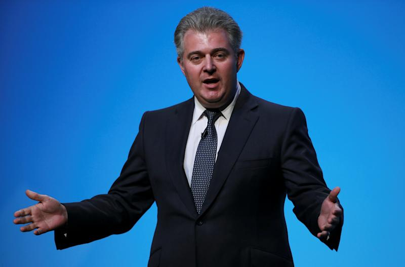 Britain's Conservative Party Chairman Brandon Lewis speaks before the start of a hustings event in Birmingham, Britain, June 22, 2019. REUTERS/Hannah McKay