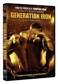 GENERATION IRON on DVD on Tuesday, May 13th -- narrated by Academy Award®-nominee Mickey Rourke! Click here for high-resolution version