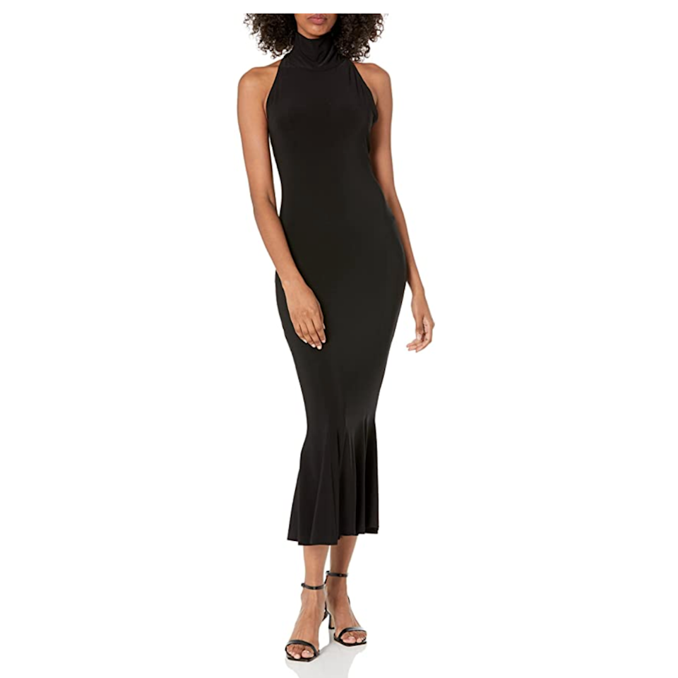 """Sleek? Yes. Versatile? Also yes. The mermaid-cut hem perfectly balances the sleeveless halter-neck style of this midi dress. (If you've got a formal dress code in your future, look no further.) $108, Amazon. <a href=""""https://www.amazon.com/Norma-Kamali-Womens-Fishtail-Midcalf/dp/B08W6SV3BF"""" rel=""""nofollow noopener"""" target=""""_blank"""" data-ylk=""""slk:Get it now!"""" class=""""link rapid-noclick-resp"""">Get it now!</a>"""