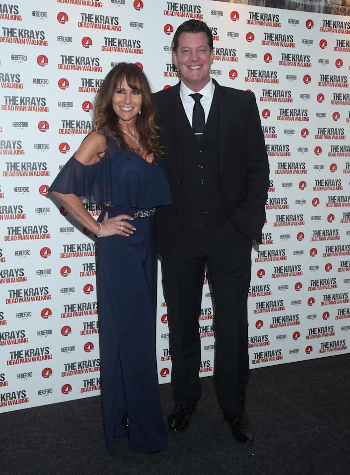 Linda Lusardi and her husband Sam Kane attending the The Krays: Dead Man Walking film premiere at Genesis Cinema, East London. (Photo by Yui Mok/PA Images via Getty Images)