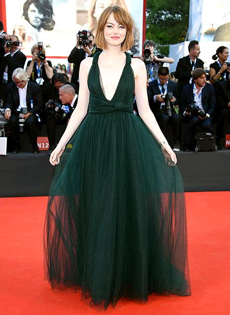 Emma Stone Chops Her Hair, Owns the Venice Film Festival Red Carpet