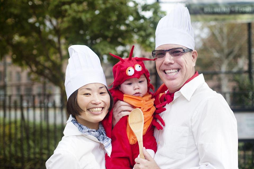 """<p>Your kid is probably so cute, you want to eat him or her. Please, don't do that, but you should dress as cooks and a little lobster. </p><p><a class=""""link rapid-noclick-resp"""" href=""""https://www.amazon.com/InCharacter-Costumes-Lobster-Costume-Orange/dp/B003IBI0PK/ref=sr_1_1?tag=syn-yahoo-20&ascsubtag=%5Bartid%7C10055.g.28073110%5Bsrc%7Cyahoo-us"""" rel=""""nofollow noopener"""" target=""""_blank"""" data-ylk=""""slk:SHOP LOBSTER COSTUME"""">SHOP LOBSTER COSTUME</a></p><p><a class=""""link rapid-noclick-resp"""" href=""""https://www.amazon.com/Kitchen-Adjustable-Butcher-Costume-Pocket/dp/B077RV3SVB/ref=sr_1_3?tag=syn-yahoo-20&ascsubtag=%5Bartid%7C10055.g.28073110%5Bsrc%7Cyahoo-us"""" rel=""""nofollow noopener"""" target=""""_blank"""" data-ylk=""""slk:SHOP CHEF APRON SET"""">SHOP CHEF APRON SET</a></p>"""