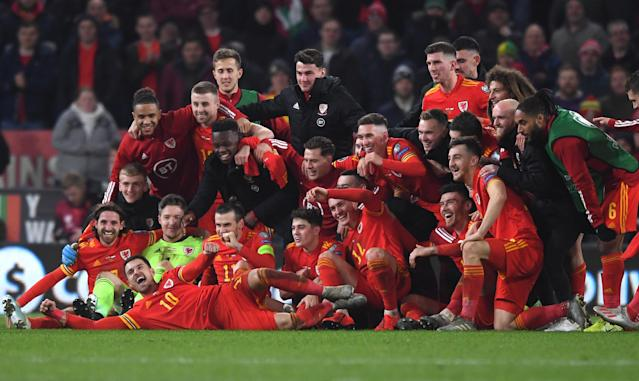 Wales celebrations (Credit: Getty Images)