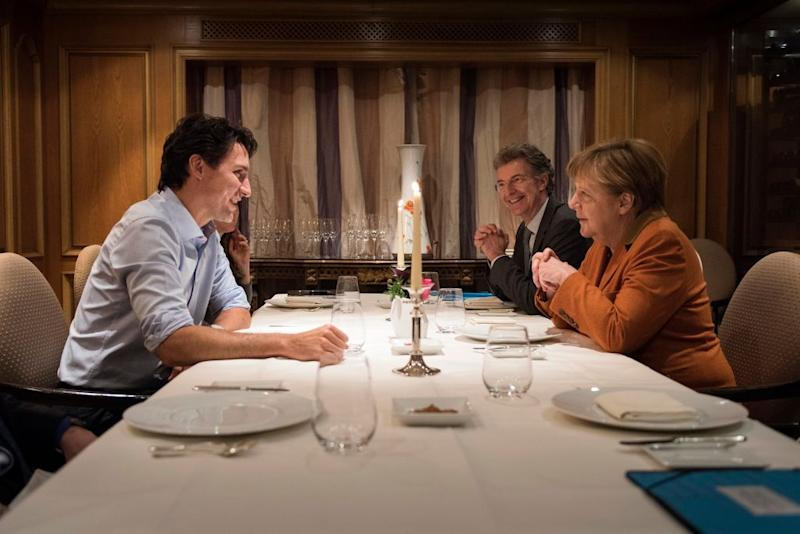 Justin Trudeau during a meeting with Angela Merkel: Picture: Guido Bergmann/Bundesregierung via Getty Images