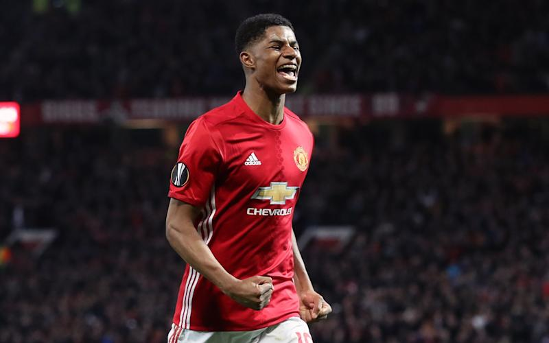 Marcus Rashford's terrific strike in extra-time puts Manchester United through to the Europa League semi-finals - PA