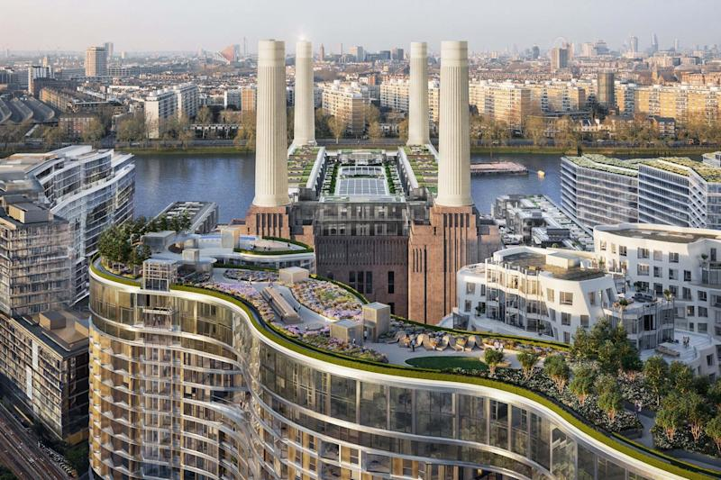 "London's highest vegetable patch, a herb garden and yoga lawn are among features expected to be included in the designs of a huge new roof terrace next to Battersea Power Station.Latest images of the 1,200ft-long gardens overlooking the former electricity generator also show barbecue spots, sun decks and fitness areas, plus spaces for communal events such as cinema screenings.The gardens sit on top of buildings designed by ""starchitect"" practice Foster + Partners, which are expected to be completed by mid-2021. They are part of the third phase of the £9 billion regeneration of the Grade II* listed power station and the 42 acres of land around it.The plans for the Battersea Roof Gardens have been drawn up by the team behind the New York High Line — James Corner Field Operations — and will be delivered by Holborn-based landscape practice LDA Design.The boom in roof gardens means London's elevated green spaces now cover 371 acres — bigger than Hyde Park — beating other cities known for their high-rise gardens including Singapore and Tokyo.LDA Design director Ben Walker said: ""The public and private spaces of this incredible site are designed to cater for the communities of the future. ""We are tackling modern problems such as loneliness, mental and physical health through a variety of spaces that bring people together physically, emotionally and culturally. ""We want people to be surprised by their new home, we want them to be proud and to expect the unexpected, keeping the magic of living in London at the very forefront of their minds.""The £1 billion third phase of the project will create about 1,300 homes in two blocks to the south of the former power station together with a new high street that will be the development's main gateway."