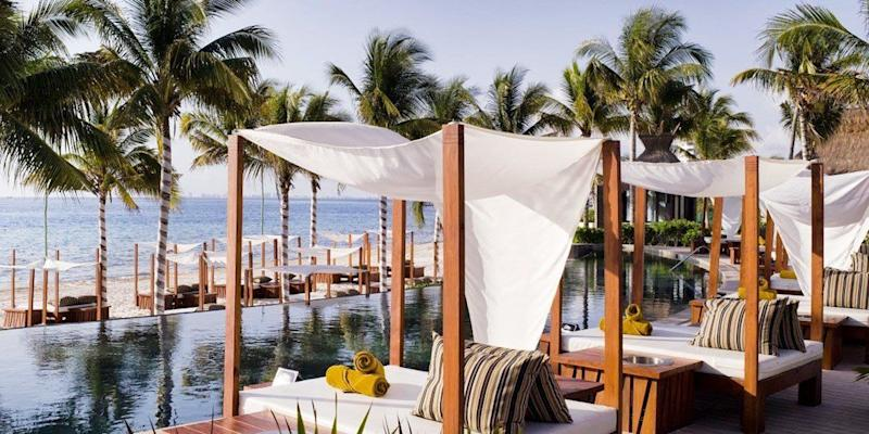 "All-inclusive 3-night-stay at the Villa del Palmar Cancun. Travel dates: Select dates April through May. <a href=""https://www.travelzoo.com/vacations/mexico/-549-Cancun-4-Star-All-Inclusive-Escape-w-Flights-2595112/"" target=""_blank"">Visit the deal</a>."