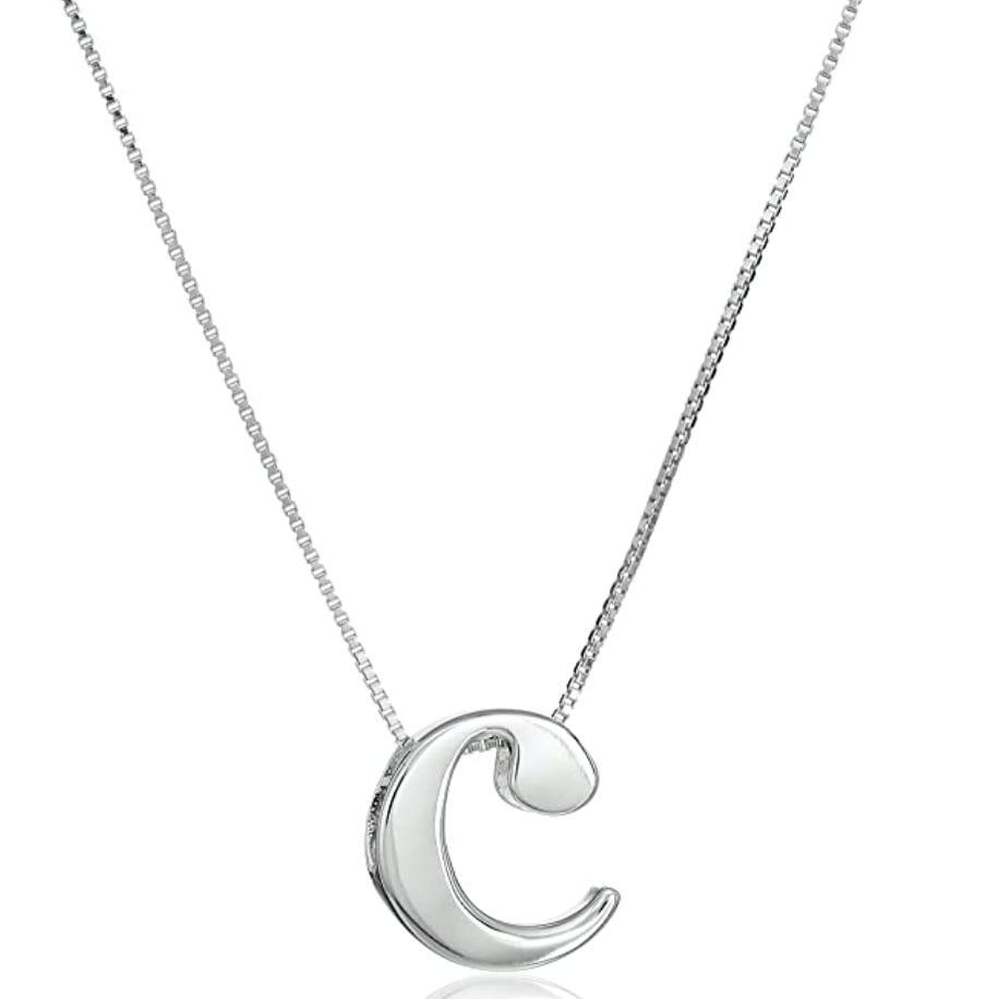<p>The <span>Amazon Essentials Sterling Silver Slide Initial Pendant Necklace</span> ($19) definitely stands out.</p>