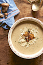 """<p>If you're after an easy, creamy mushroom <a href=""""https://www.delish.com/uk/cooking/recipes/g29869350/healthy-soup-recipes/"""" rel=""""nofollow noopener"""" target=""""_blank"""" data-ylk=""""slk:soup"""" class=""""link rapid-noclick-resp"""">soup</a>, this gorgeous <a href=""""https://www.delish.com/uk/cooking/recipes/a30774686/garlic-butter-mushrooms-recipe/"""" rel=""""nofollow noopener"""" target=""""_blank"""" data-ylk=""""slk:mushroom"""" class=""""link rapid-noclick-resp"""">mushroom</a> and parmesan version by Héloïse Brion is a winner. Simple, packed with cheese and crème fraîche and perfect served with crusty <a href=""""https://www.delish.com/uk/food-news/g33247431/bread-tips/"""" rel=""""nofollow noopener"""" target=""""_blank"""" data-ylk=""""slk:homemade bread"""" class=""""link rapid-noclick-resp"""">homemade bread</a>.</p><p>Get the <a href=""""https://www.delish.com/uk/cooking/recipes/a33569895/mushroom-soup/"""" rel=""""nofollow noopener"""" target=""""_blank"""" data-ylk=""""slk:Mushroom and Parmesan Soup"""" class=""""link rapid-noclick-resp"""">Mushroom and Parmesan Soup</a> recipe.</p>"""