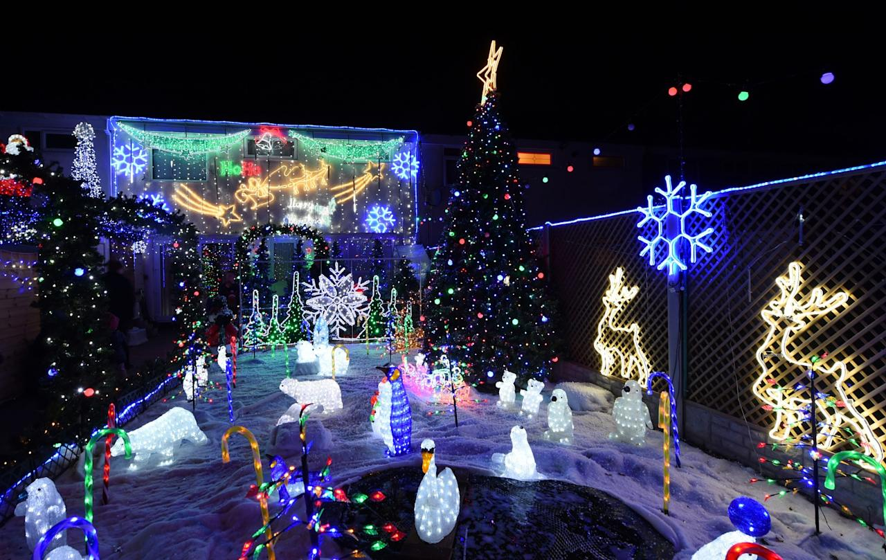 <p>This Birmingham house has a highly decorated garden, too. (PA) </p>