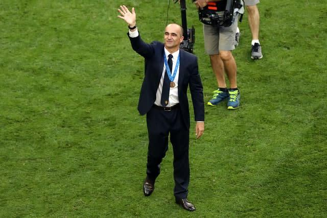 Roberto Martinez led Belgium to third at the 2018 World Cup (Tim Goode/PA)