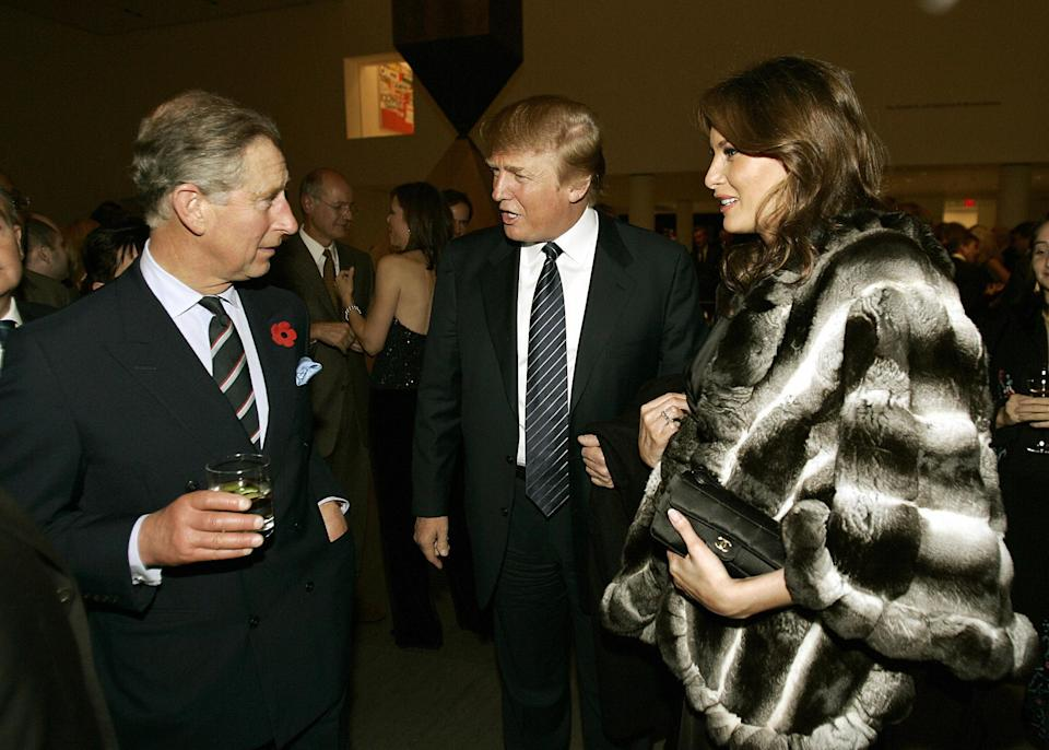 Prince Charles partied with the Trumps in 2005. (Photo: Timothy A. Clary/AFP/Getty Images)