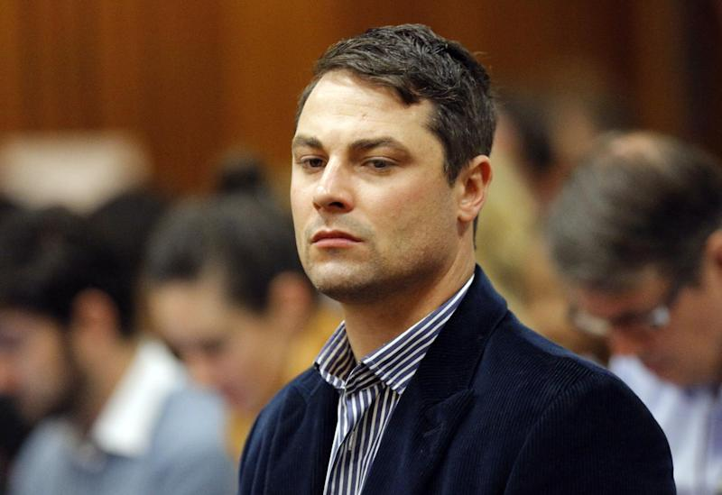 Carl Pistorius attends the trial of his brother in Pretoria, South Africa, on March 4, 2014