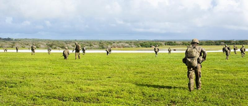 US paratroopers at Andersen Air Force Base