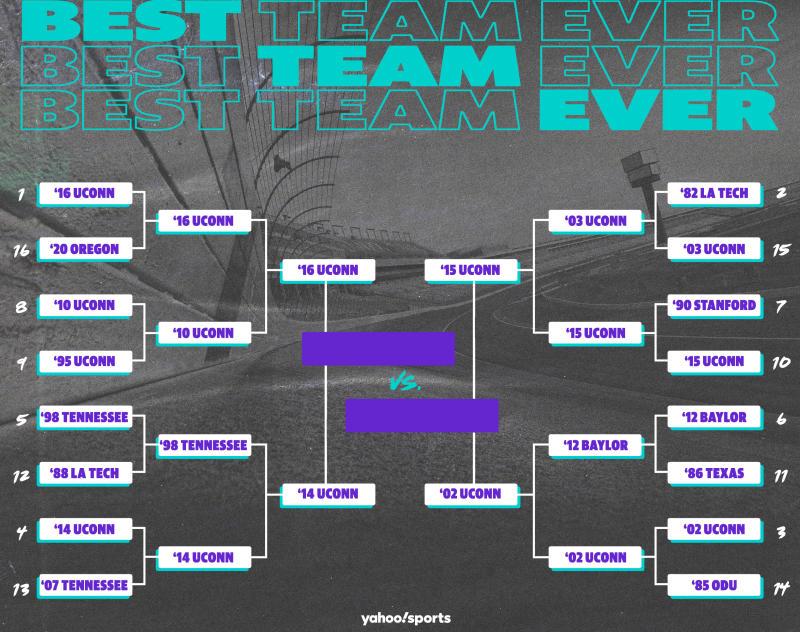 Best Teams Ever bracket: Women's college basketball edition, Final Four. (Yahoo Sports illustration)