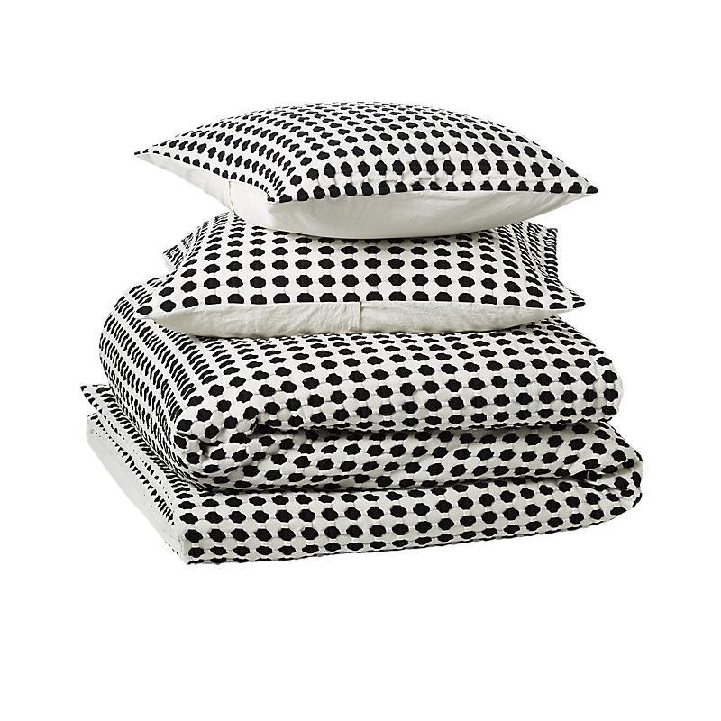 """<a rel=""""nofollow noopener"""" href=""""https://www.cb2.com/estela-matlesse-black-and-white-bedding/f17689"""" target=""""_blank"""" data-ylk=""""slk:Estela Matlesse Black And White Full/Queen Bedding, CB2, $229&quot;Fall is the perfect time for a bedroom refresh and this season we're introducing a new collection of bedding that's delicate and evokes a spa-like retreat."""""""" class=""""link rapid-noclick-resp"""">Estela Matlesse Black And White Full/Queen Bedding, CB2, $229<p>""""Fall is the perfect time for a bedroom refresh and this season we're introducing a new collection of bedding that's delicate and evokes a spa-like retreat.""""</p> </a><p> <strong>Related Articles</strong> <ul> <li><a rel=""""nofollow noopener"""" href=""""http://thezoereport.com/fashion/style-tips/box-of-style-ways-to-wear-cape-trend/?utm_source=yahoo&utm_medium=syndication"""" target=""""_blank"""" data-ylk=""""slk:The Key Styling Piece Your Wardrobe Needs"""" class=""""link rapid-noclick-resp"""">The Key Styling Piece Your Wardrobe Needs</a></li><li><a rel=""""nofollow noopener"""" href=""""http://thezoereport.com/living/work/admit-youre-overwhelmed-work/?utm_source=yahoo&utm_medium=syndication"""" target=""""_blank"""" data-ylk=""""slk:How To Admit You're Overwhelmed At Work"""" class=""""link rapid-noclick-resp"""">How To Admit You're Overwhelmed At Work</a></li><li><a rel=""""nofollow noopener"""" href=""""http://thezoereport.com/fashion/celebrity-style/meghan-markle-dress-hack/?utm_source=yahoo&utm_medium=syndication"""" target=""""_blank"""" data-ylk=""""slk:Meghan Markle's Dress Hack For Windy Days Is Brilliant"""" class=""""link rapid-noclick-resp"""">Meghan Markle's Dress Hack For Windy Days Is Brilliant</a></li> </ul> </p>"""