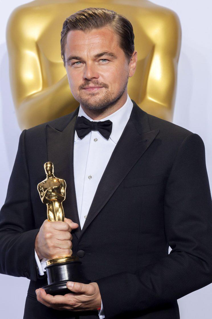 88th Academy Awards press room. Actor in a leading role winner Leonardo DiCaprio for the film