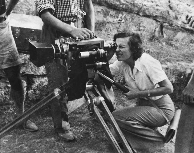 Leni Riefenstahl is a photographer and cinematographer best known for two films extolling the Third Reich: Triumph of the Will, a documentary of the 1934 Nuremburg Rallies; and Olympia, a two-part film on the 1936 Olympic Games in Berlin. Although cleared of any complicity in any Nazi war crimes, her attitudes and work continue to be controversial. Germany, ca. 1930s. (Photo by © CORBIS/Corbis via Getty Images) (Photo: Historical via Getty Images)