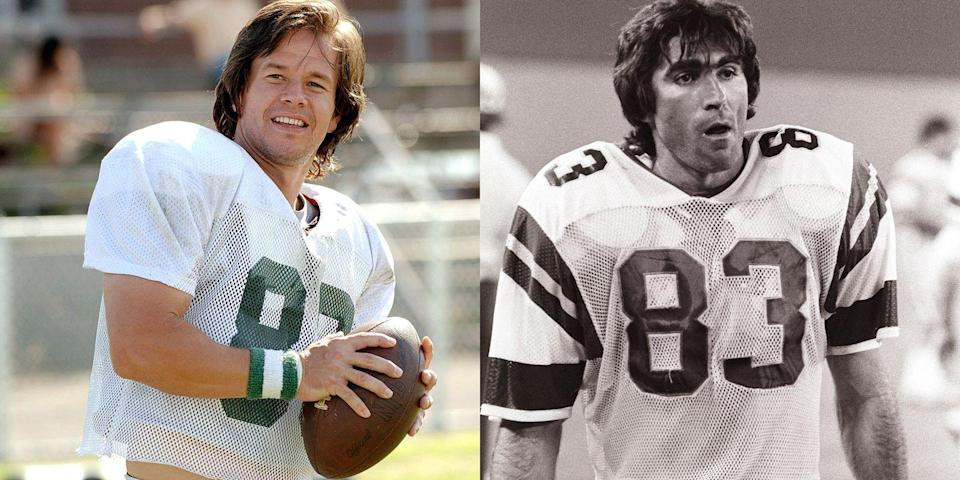 <p>Wahlberg portrayed Eagles football player Vince Papale in the 2006 film <em>Invincible</em>, about the 30-year-old NFL rookie.</p>