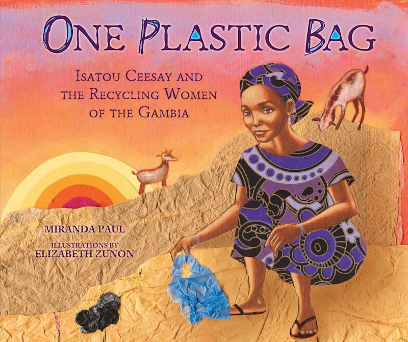"Activist Isatou Ceesay is the subject of this book about the recycling efforts in the Gambia. <i>(Available <a href=""https://www.amazon.com/One-Plastic-Bag-Recycling-Millbrook/dp/1467716081"" target=""_blank"" rel=""noopener noreferrer"">here</a>)</i>"