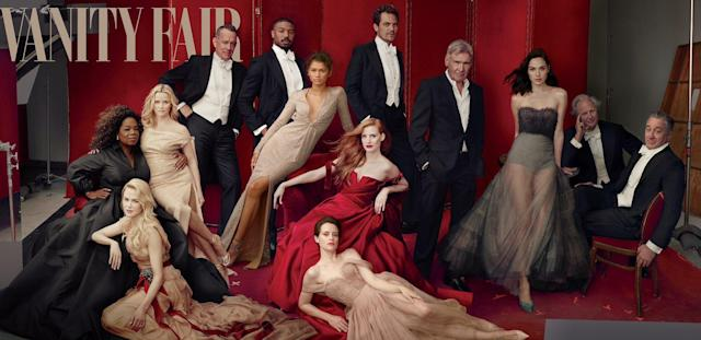 This is the 2018 <em>Vanity Fair</em> Hollywood issue. James Franco need not apply. (Photo: Annie Leibovitz for Vanity Fair via Twitter)