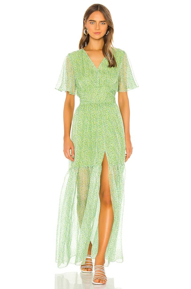 "<p>This green <a href=""https://www.popsugar.com/buy/Eywasouls-Malibu-Maria-Dress-584591?p_name=Eywasouls%20Malibu%20Maria%20Dress&retailer=revolve.com&pid=584591&price=187&evar1=fab%3Aus&evar9=46222295&evar98=https%3A%2F%2Fwww.popsugar.com%2Ffashion%2Fphoto-gallery%2F46222295%2Fimage%2F47590898%2FEywasouls-Malibu-Maria-Dress&list1=shopping%2Cdresses%2Csummer%2Csummer%20fashion&prop13=api&pdata=1"" rel=""nofollow"" data-shoppable-link=""1"" target=""_blank"" class=""ga-track"" data-ga-category=""Related"" data-ga-label=""https://www.revolve.com/eywasouls-malibu-maria-dress/dp/EYWA-WD4/?d=Womens&amp;page=1&amp;lc=88&amp;itrownum=94&amp;itcurrpage=1&amp;itview=05"" data-ga-action=""In-Line Links"">Eywasouls Malibu Maria Dress</a> ($187, originally $388) screams summer.</p>"