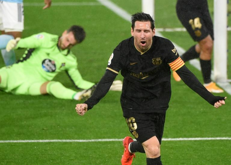Messi and Fati inspire 10-man Barca to victory over Celta